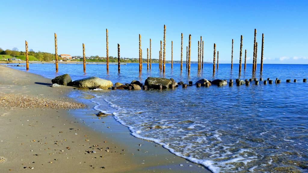 Havfruefløjterne ved Østerstrand i Fredericia